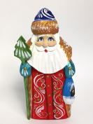 Wooden Hand Carved Painted Russian Red Santa Claus Figurine 13cm