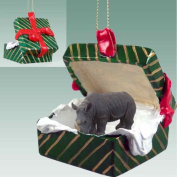 Rhinoceros Gift Box Christmas Ornament - DELIGHTFUL!