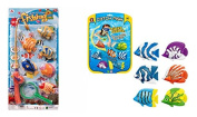 Fishing Game with 43cm Magnetic Fishing Rod & 6 Colourful Fish. Comes with Additional 6 Assorted Catch Fish Pool Game. Kids Can Enjoy Fishing at Home and also Diving down the Pool to Catch the Fish