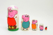 5 pcs Russian Nesting Doll PEPPA PIG
