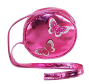 Girls round pink over the body bag with butterfly trims