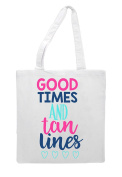 Good Times And Tan Lines Summer Statement Tote Bag Shopper