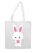 Bunny Five - Cute Rabbit Character Easter Tote Bag Shopper