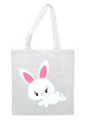 Bunny Eight Eyelashes- Leaping Rabbit Easter Tote Bag Shopper