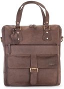 LEABAGS Fremont genuine buffalo leather citybag in vintage style - Nutmeg