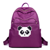 Young & Ming - Colourful Large Unisex Women Waterproof Nylon Backpack Cute Panda Decoration for Work / Leisure / School