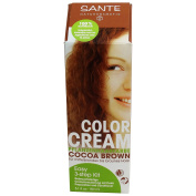 SANTE - Colour Cream - Brown Cocoa - 100% Natural - Ammonia, Peroxide and Synthetic Dyes FREE- 150 ml