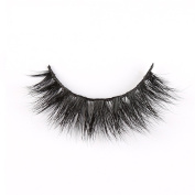 LANKIZ False Eyelashes,Mink Natural 3d Double Fluffy Thick Black Long Tapered Fake Lashes with Cotton Band for Daily Use
