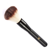Anself HUAMIANLI Round Makeup Brush Face Foundation Brush Contour Blush Brush Wood Handle Black