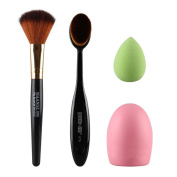 Usstore 4PC Makeup Brush Sponge Cosmetic Brush Beauty Loose Brushes Toothbrush Foundation Tool Make Up For Professional Women Lady