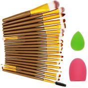 Lookatool 22pcs Makeup Brush Makeup Sponge Makeup Brush Cleaner Foundation Brush