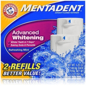 Mentadent Toothpaste, Advanced Whitening, 2- 160ml Packages (Pack of 3) by Mentadent