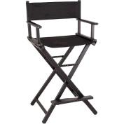Sunrise Lightweight Aluminium Tall Portable Director Makeup Artist Chair, Black