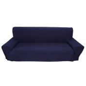 3 Seater Sofa Covers 7 Solid Colours Full Stretch Slipcover Elastic Fabric Soft Couch Cover Sofa Protector Home Furniture