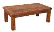 Vellar Living Indian Rosewood Coffee Table / Solid Sheesham Rosewood Living Room Table / Chunky Living Room Furniture