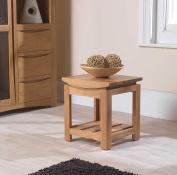 Crescent Solid Oak Furniture Side End Lamp Table