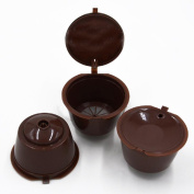SOLOKA 3 Pcs/set Coffee Filters Coffee Capsules Cups Espresso Pods Filters For Nespresso Machines