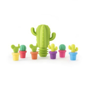 TrueZoo Cactus Stopper and Charm Set, Multicolor