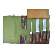 Durable Water Resistant Canvas Knife Roll (7 pockets) Handmade by Hide & Drink :
