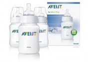 New Baby Philips AVENT SCF683/37 Classic Feeding Bottles 3 x260ml/9oz Anti Colic New by Philips