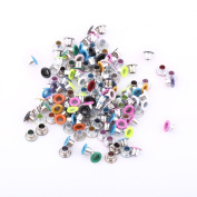 3mm Hole Glossy Mixed Colour Eyelet Bulk For DIY Crafts, Bags, Shoes, Clothes, Leather, Fabrics & Scrapbooking-500Pcs