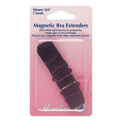 Hemline H777.19.B Black 2 Rows 1 Hook Magnetic Bra Back Extender 19mm