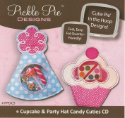 Cupcake & Party Hat Candy Cuties CD (In the Hoop Project) by Pickle Pie Designs