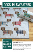Dogs in Sweaters Quilt Pattern by Elizabeth Hartman
