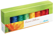 Mettler Thread Silk Finish 100% Mercerized Cotton Sewing Set; 8 Spools SUMMER Colour Collection