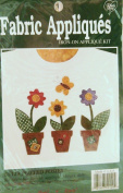 Potted Posies - Easy Fabric Iron-On Applique Kit #55129