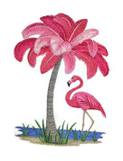 Nature weaved in threads, Amazing Birds Kingdom [ Flamingo Tree] [Custom and Unique] Embroidered Iron on/Sew patch [23cm 18cm ] [Made in USA]