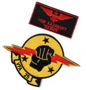 Top Gun movie US Navy Ice Man Tom Kazansky US Navy Bundle 2pcs Hook Patch by Miltacusa