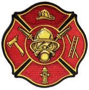 FIRE FIGHTER SHIELD PATCH - Colour - Veteran Owned Business.