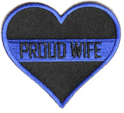PROUD WIFE HEART POLICE PATCH - Colour - Veteran Owned Business.