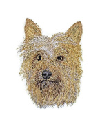 Amazing Dog Faces[Australian Silky Terrier] Embroidery Iron On/Sew patch [10cm x 7.6cm ][Made in USA]