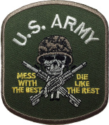 TAB US ARMY (Black)size11.5 x 3cm. Logo Jacket Vest shirt hat blanket backpack T shirt Patches Embroidered Appliques Symbol Badge Cloth Sign Costume Gift