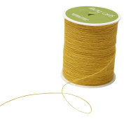 May Arts SM-27 Yellow String Burlap Ribbon,Yellow,400 yd