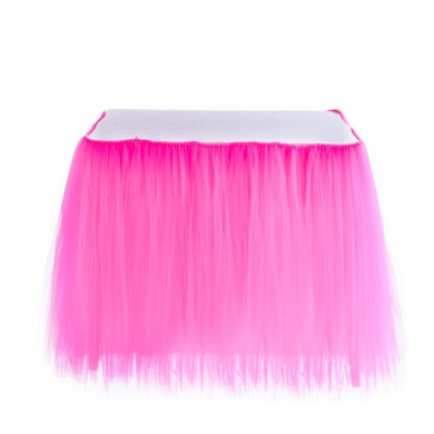 Adeeing Romantic Tulle Table Cloth Gauze Decoration Tutu Table Skirts for Girl Princess Party Baby Shower Wedding Birthday Parties Decoration 1Yard (Rose Red)