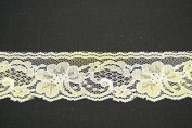 Ribbon Bazaar Lace 2613 Flat 4.3cm Ivory By the Yard 100% Polyester