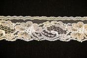 Ribbon Bazaar Lace 2613 Flat 4.3cm Natural 25 yards 100% Polyester