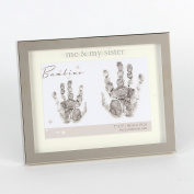 Me and My Sister Hand print 18cm x 13cm Photo Frame Baby Gift