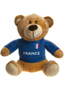Crazy Football - Plush toy Teddy bear with the shirt of the French soccer team 50cm - Quality super soft - France