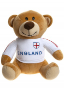 Crazy Football - Plush toy Teddy bear with the shirt of the English soccer team 50cm - Quality super soft - England