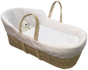 Broderie Anglaise High Top Palm Moses Basket
