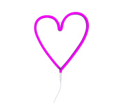 Neon Style Heart Light, Pink, UK Adapter