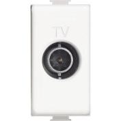 BTicino am5202p14 Matix TV Socket Loop, 14 dB, white, 1 m