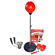 Hongwu Adjustable Free Standing Punching Speed Ball Bag With Boxing Gloves and Jump Rope