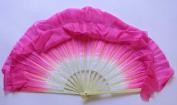 Pink Silk Flutter Dance Fan