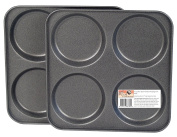 4 Cup Yorkshire Pudding Trays, Twinpack, with GlideX Non-Stick ®TM by Lets Cook