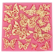 DIY Flower Butterfly Silicone Lace Mat Fondant Silicone Moulds